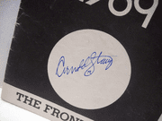 Stang, Arnold Bert Convy Playbill Signed Autograph The Front Page 1969