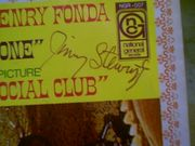 Stewart, Jimmy James  & Henry Fonda The Cheyenne Social Club 1970 Color Picture Sleeve With 45 RPM Record Signed Autograph Photo
