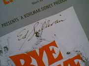 Sullivan, Ed  A Lot Of Livin To Do 1961 Sheet Music Signed Autograph Bye Bye Birdie