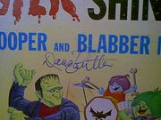 Super Snooper And Blabber Mouse Quick Draw Mcgraw LP Signed Autograph Hanna Barbera Daws Butler 1965 Monster Shindig
