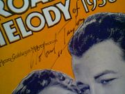 Taylor, Robert  Broadway Melody Of 1938 Sheet Music 1937 Signed Autograph Yours And Mine
