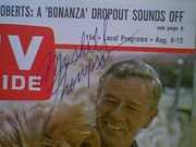 Thompson, Marshall  TV Guide Magazine 1966 Signed Autograph Daktari Color Cover Photo