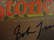 Travolta, John Rolling Stone Magazine 1983 Signed Autograph Color Cover Photo