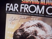 Travolta, John Sheet Music Signed Autograph Staying Alive Far From Over 1983