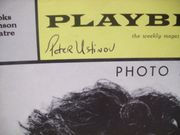 Ustinov, Peter Playbill Signed Autograph Photo Finish 1963