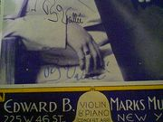Vallee, Rudy Sheet Music Signed Autograph Chimes Of Spring 1930