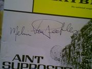 Van Pebbles, Melvin 1971 Playbill Aint Supposed To Die A Natural Death Signed Autograph