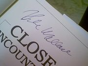 Wallace, Mike Michael  Close Encounters 1984 Book Signed Autograph Photos