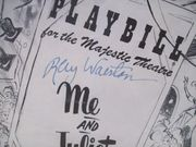 Walston, Ray Playbill Signed Autograph Me And Juliet 1954