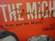 Wayne, John Claire Trevor, Laraine Day, Robert Stack, Jan Sterling, Phil Harris, David Brian The High And The Mighty 1954 Sheet Music Signed Autograph Photographs