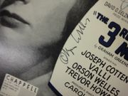 Welles, Orson and Joseph Cotten The 3rd Man Theme 1950 Sheet Music Signed Autograph