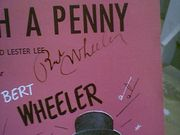 Wheeler, Bert  Grace and Paul Hartman Dreamer With A Penny 1949 Sheet Music Signed Autograph All For Love Cover Photos