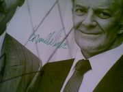 Wilde, Cornel  & Stacy Keach 1986 Photo The New Mike Hammer Signed Autograph Cbs Television