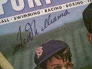 Williams, Ted  Sport Magazine 1947 Signed Autograph Color Baseball