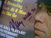 Wills, Maury  Sport Magazine 1966 Signed Autograph Color Cover Photo Baseball