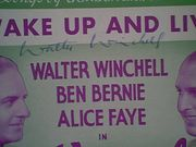 Winchell, Walter  Alice Faye Wake Up And Live 1937 Sheet Music Signed Autograph Early Cover Photos