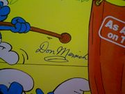 Winters, Jonathan Paul Winchell Don Messick LP Signed Autograph The Smurfs All Star Show 1981