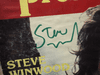 Winwood, Steve  Trouser Press Magazine 1978 Signed Autograph Color Cover Photo Traffic