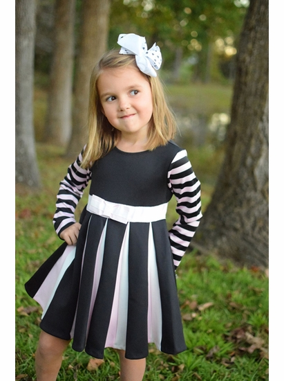Biscotti Dancing Stripe Dress
