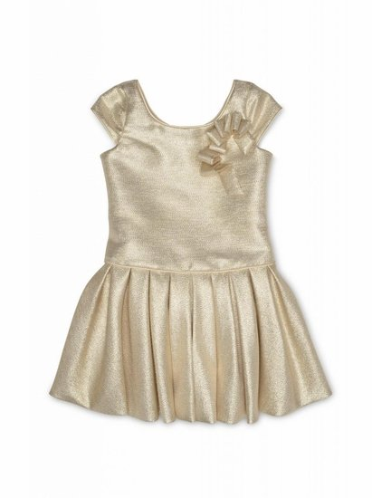 Biscotti Gold Cap Sleeve Dress