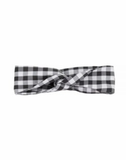 Deux par Deux Black Check Headband