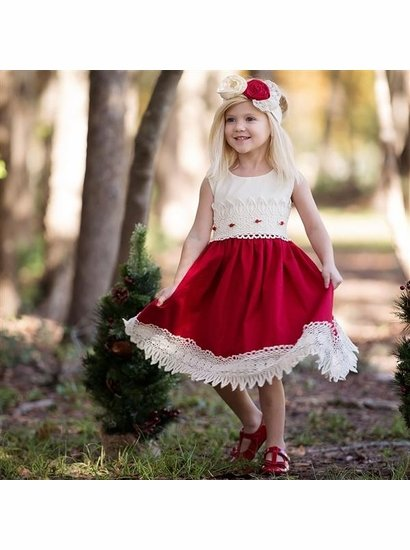 Haute Baby Red & Ivory Dress