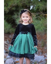Isobella & Chloe Emerald Castle Dress Size 2T