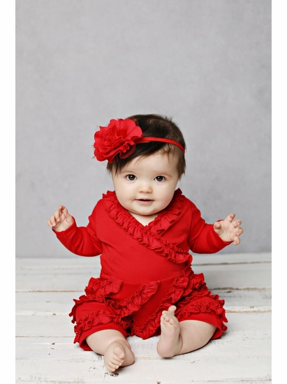 Lemon Loves Lime Red Raya Romper SIZE 12/18m