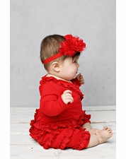 Lemon Loves Lime Red Rose Headband SIZE S