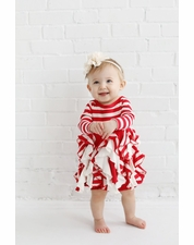 Lemon Loves Lime  Red Lil Candy Cane Dress Set