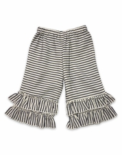 Little Prim Ticking Stripe Gauchos SIZE 4