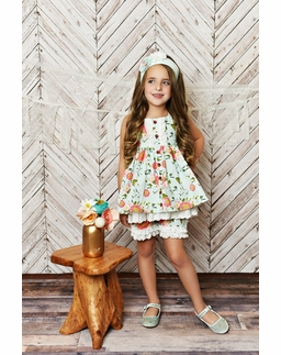 Serendipity Dress with Eyelet Trim Shorties & Head Band PREORDER