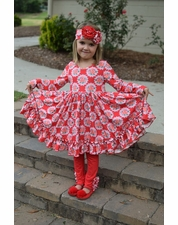 Serendipity SOFT Red Floral Dress SET