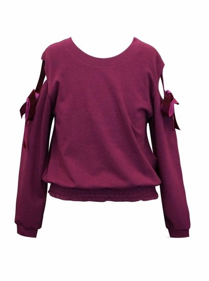 Truly Me Ribbon Cold Shoulder Top SIZE 14