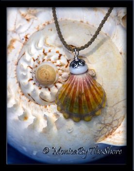 "Bali ""Country Style"" Hawaiian Sunrise Shell Puka Shell Cord Necklace"
