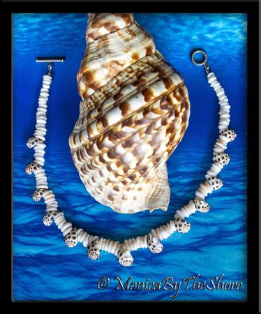 "Custom for ""Fred"" Puka Shell and Drupe Shells Necklace"
