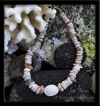CUSTOM ORDER FOR ADAM CHUNKY PUKA SHELLS AND COWRIE SHELL BRACELET