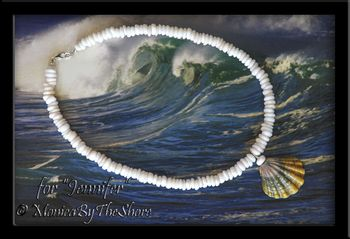 Custom for Jennifer Rainbow Moonrise Shell on Puka Shells Necklace