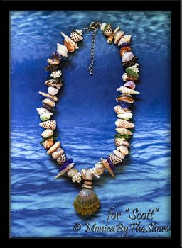 "Custom Order for Scott Moonrise ""Beach Candy"" Seashell & Seaglass Lei and Matching Bracelet"