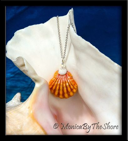 Dainty Pink and Peach Town and Country Hawaiian Sunrise Shell, Puka Shell & Crystal Necklace