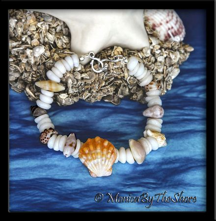 Hawaiian Sunrise Shell, Puka Shells & Seashells Bracelet