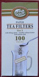 Cha Cult Paper Tea Filters - Small - Unbleached - Box of 100