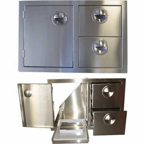 """200 Series BBQ Island 36"""" door and Drawer combo unit Stainless steel"""