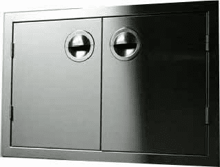 "200 Series BBQ Island Access Double Door 30""  Stainless Steel"