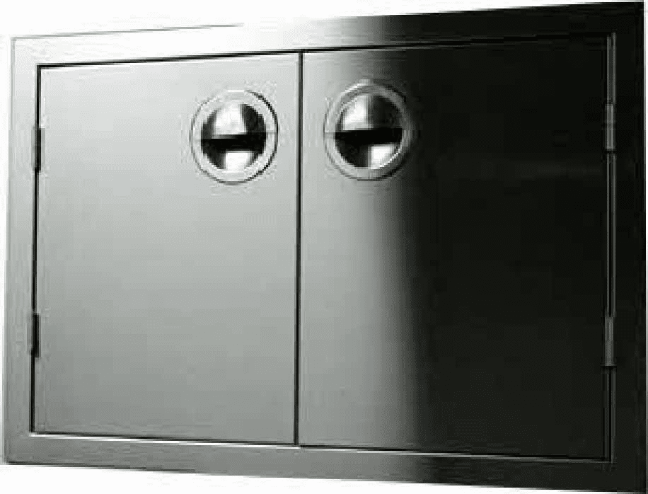 "200 Series Island Double Access door 48"" Stainless Steel"