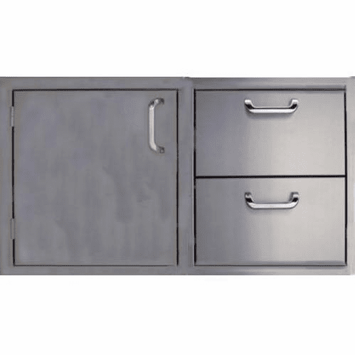 "260 Series BBQ Island 36"" door and Drawer combo unit Stainless steel"