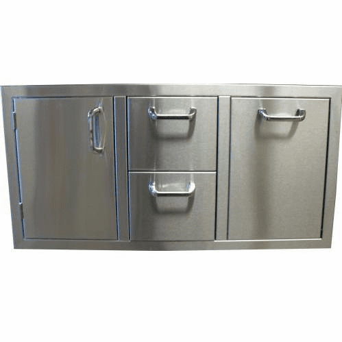 "260 Series BBQ Island 42"" door and Drawer combo unit Stainless steel"