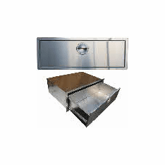 "260 Series BBQ island single drawer 30"" X 4"" stainles steel"