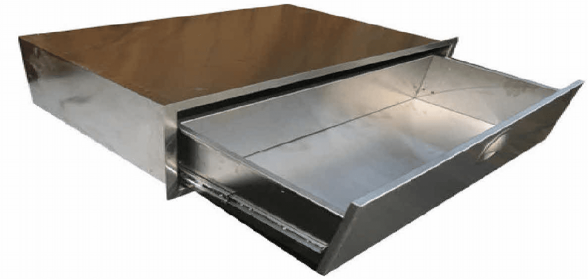 "260 Series BBQ Island utility drawer Stainless steel 30"" wide, 4"" tall"