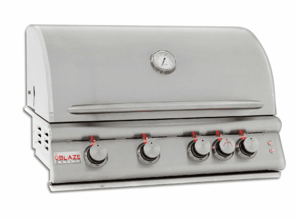 4 Burner 32 Inch Built In Grill With Lights Natural Gas BLZ-4LTE-NG